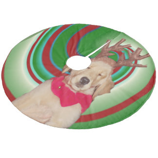 Saia Para Árvore De Natal De Lã billie--ouro-rena