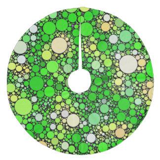Saia Para Árvore De Natal De Lã Bolhas de Zazzy, verdes