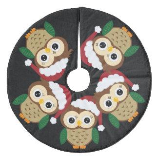 Saia Para Árvore De Natal De Lã Coruja adorável do Natal
