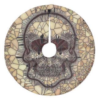 Saia Para Árvore De Natal De Lã Crânio de vidro do mosaico, bege
