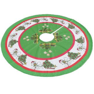 Saia Para Árvore De Natal De Lã Samoyed com a saia feita sob encomenda da árvore