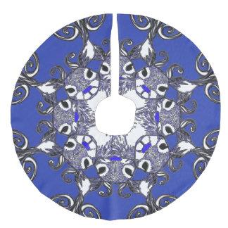 Saia Para Árvore De Natal De Linho Falso Azul azul dos cervos da rena do nariz de Bluenoser