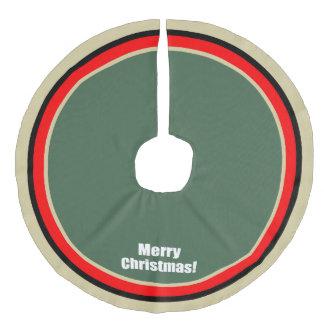 Saia Para Árvore De Natal De Linho Falso O verde vermelho do ouro do Feliz Natal circunda a