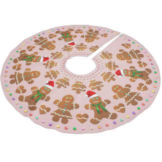 Saia Para Árvore De Natal De Poliéster 11 meninos e meninas do pão-de-espécie que