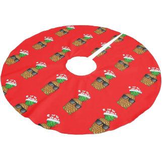 Saia Para Árvore De Natal De Poliéster Abacaxi de Papai Noel