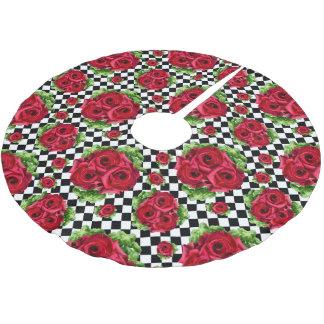 Saia Para Árvore De Natal De Poliéster Amor floral do buquê Rockabilly das rosas