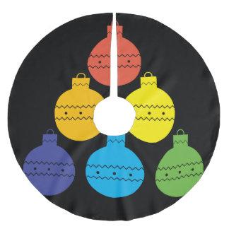 Saia Para Árvore De Natal De Poliéster Árvore do arco-íris da saia da árvore das bolas do