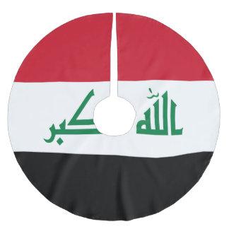 Saia Para Árvore De Natal De Poliéster Bandeira de Iraque