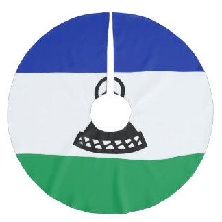 Saia Para Árvore De Natal De Poliéster Bandeira de Lesotho