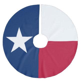 Saia Para Árvore De Natal De Poliéster Bandeira do estado de Texas - cor autêntica de