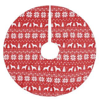 Saia Para Árvore De Natal De Poliéster Brittany mostra em silhueta o vermelho do teste