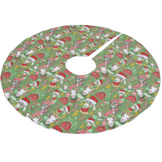 Saia Para Árvore De Natal De Poliéster CABRAS doces do Natal e tinir Bels