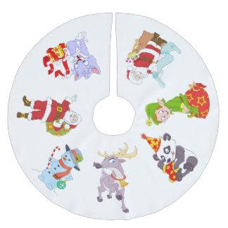 Saia Para Árvore De Natal De Poliéster Caráteres do Natal para crianças