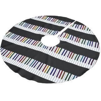 Saia Para Árvore De Natal De Poliéster Chaves psicadélicos escuras legal do piano