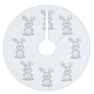 Saia Para Árvore De Natal De Poliéster Clipart branco do coelho