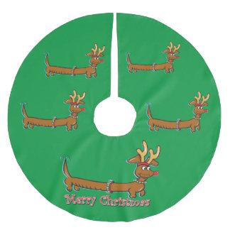 Saia Para Árvore De Natal De Poliéster Dachshund do Feliz Natal