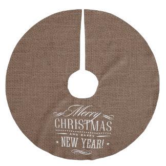 Saia Para Árvore De Natal De Poliéster Decoração rústica do Feliz Natal de serapilheira