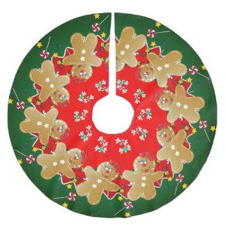 Saia Para Árvore De Natal De Poliéster Doces do doce do pão-de-espécie do Natal