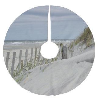 Saia Para Árvore De Natal De Poliéster Dunas resistidas da cerca e de areia na praia