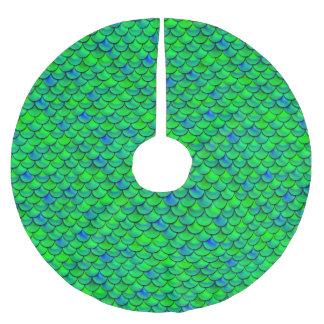 Saia Para Árvore De Natal De Poliéster Escalas verdes do azul de Falln