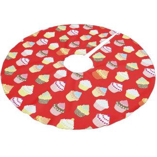 Saia Para Árvore De Natal De Poliéster Escuro - bolos vermelhos do copo dos namorados