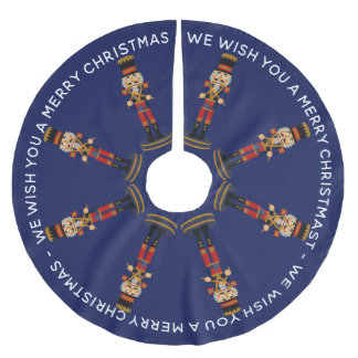 Saia Para Árvore De Natal De Poliéster Feliz Natal de marcha dos bateristas do Nutcracker