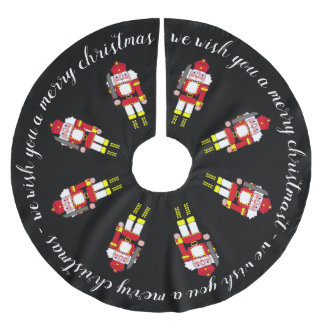 Saia Para Árvore De Natal De Poliéster Feliz Natal de marcha dos Nutcrackers
