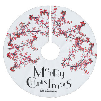 Saia Para Árvore De Natal De Poliéster Feliz Natal personalizado -