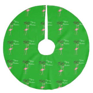 Saia Para Árvore De Natal De Poliéster Flamingo do Feliz Natal
