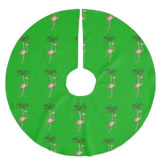 Saia Para Árvore De Natal De Poliéster Flamingo do Natal