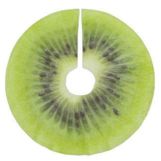 Saia Para Árvore De Natal De Poliéster Fruta de quivi fresca. Close up redondo da fatia