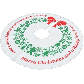 Saia Para Árvore De Natal De Poliéster Grinalda moderna do Natal compor de motivos do