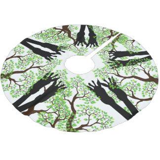 Saia Para Árvore De Natal De Poliéster Há girafas em sua árvore