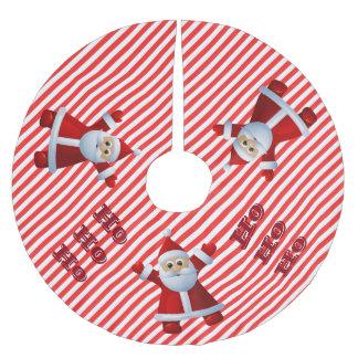 Saia Para Árvore De Natal De Poliéster HO! HO! HO! Bastão de doces do Feliz Natal de