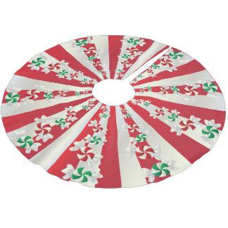 Saia Para Árvore De Natal De Poliéster Hortelã dos doces do Feliz Natal