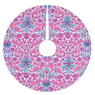 Saia Para Árvore De Natal De Poliéster Impressão do jacinto de William Morris, rosa do