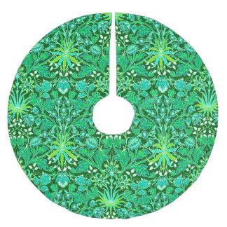 Saia Para Árvore De Natal De Poliéster Impressão do jacinto de William Morris, verde