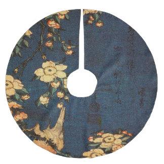 Saia Para Árvore De Natal De Poliéster Impressão tradicional do papel japonês do vintage