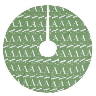 Saia Para Árvore De Natal De Poliéster Letra de teste padrão inicial A do monograma,