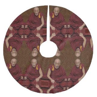 Saia Para Árvore De Natal De Poliéster Meditação budista Yog do budismo de Dalai Lama