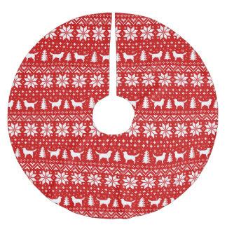 Saia Para Árvore De Natal De Poliéster Natal anunciando dos Retrievers do pato de Nova