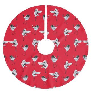 Saia Para Árvore De Natal De Poliéster O japonês de dança Cranes a saia da árvore de