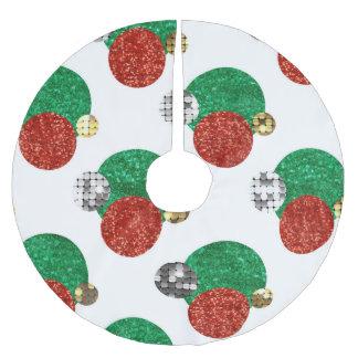 Saia Para Árvore De Natal De Poliéster o Natal do sequin pontilha a saia da árvore do