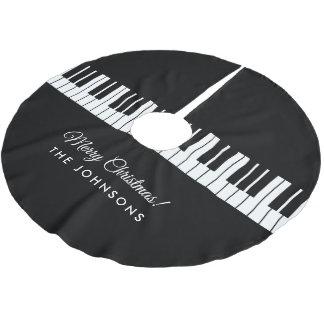 Saia Para Árvore De Natal De Poliéster O piano de cauda personalizado fecha o feriado do