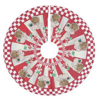 Saia Para Árvore De Natal De Poliéster Padeiros retros do pão-de-espécie do Natal
