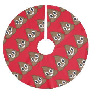 Saia Para Árvore De Natal De Poliéster Pilhas do emoji do tombadilho