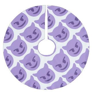 Saia Para Árvore De Natal De Poliéster Purple Devil Emoji