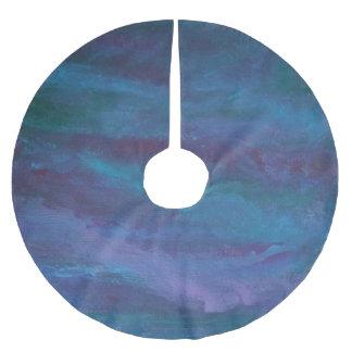 Saia Para Árvore De Natal De Poliéster Roxo violeta azul da cerceta de turquesa do Grunge