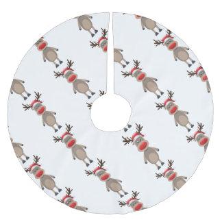 Saia Para Árvore De Natal De Poliéster Rudolf o design bonito do Natal da rena