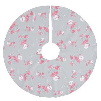 Saia Para Árvore De Natal De Poliéster Saia da árvore do amor do flamingo multi